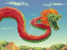 The Flying God Quetzalcoatl by CaptainKharma
