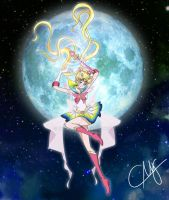 Super Sailor Moon Redraw (Crystal Style) by eMCee82