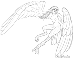 Day One: Harpy by Moonlight-pendent13