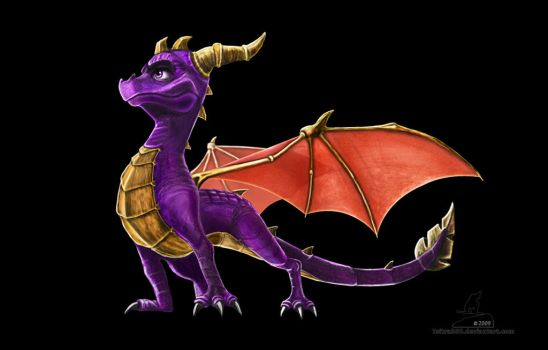 First Digital Painting Spyro by Tsitra360