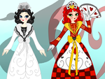 Libby Hearts and Fardette BlackSwan 1870s Outfits by JanelleMeap
