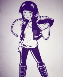 Earphone Jack - Kyoka Jiro by Pegasusarts