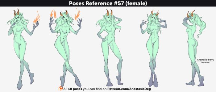 Poses Reference #57 (female) by Anastasia-berry