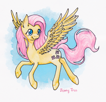 Fluttershy Watercolor by bloominglove