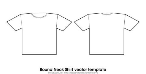 Round Neck Shirt Template by iEzQaNDaR