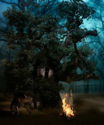 Evil forest entry... by endrju100
