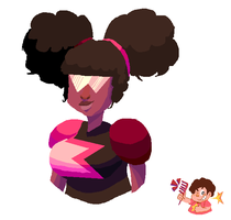 SU - Afropuff!Garnet by Future-Gamefreak
