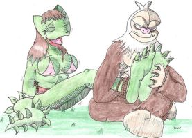 Reptile and Sloth-Monkey