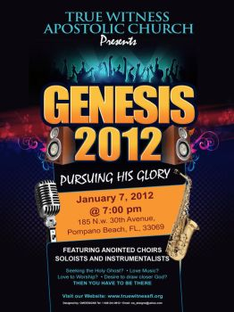 Genesis 2012 flyer by owdesigns