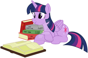 Twilight Sparkle and her books by FamousMari5