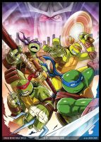 TMNT Comic Pin-up by JasonCardy