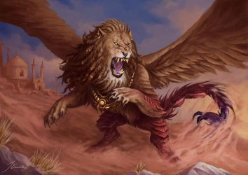 Persian Manticore by JaviRGRAPHICS