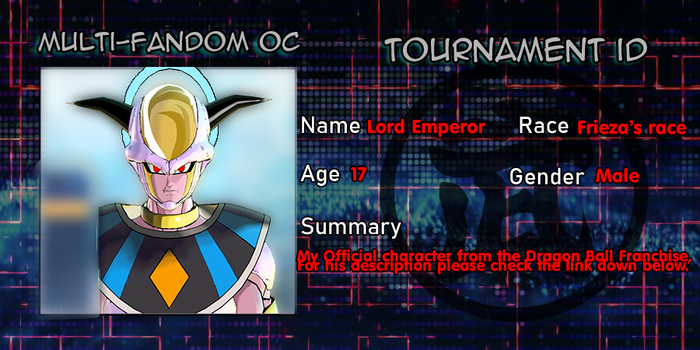 Multi-fandom oc Tournament ID - Lord Emperor by Evil-Black-Sparx-77