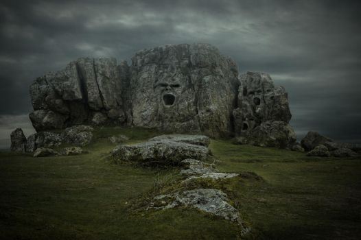 Rock Face Mountain.. by AledJonesDigitalArt