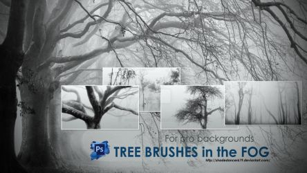 Trees in the Fog Photoshop Brushes