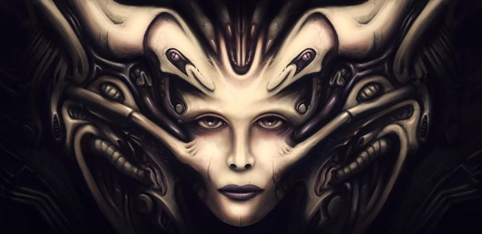 Giger tribute ... by Cluly
