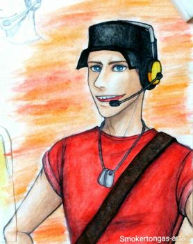 Team Fortress 2: Scout by Smokertongas-arts