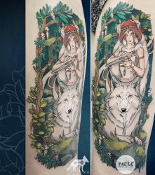 Mononoke Hime. Tattoo by quidames