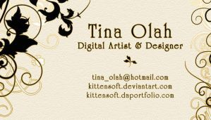 Classy Floral Business Card by Kittensoft