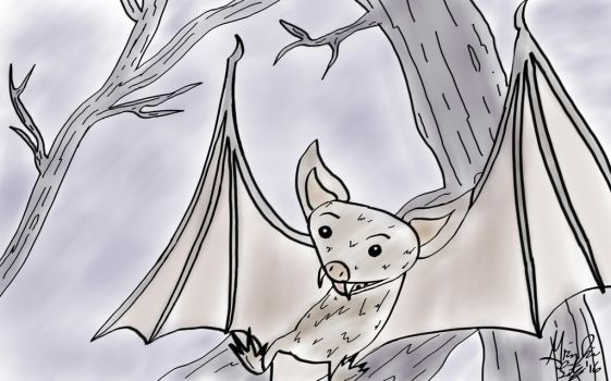 Drawlloween 2016 Day 22 Bat-urday by GrimJim848