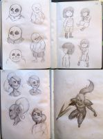 Undertale - sketches by NymphalisIo