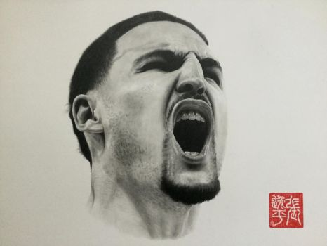Klay Thompson Portrait by yipzhang5201314