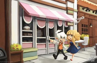 A walk to the bakery by BettyKwong