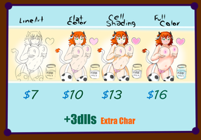 Commission Sheet =Please Send A Note= by NoRightHand