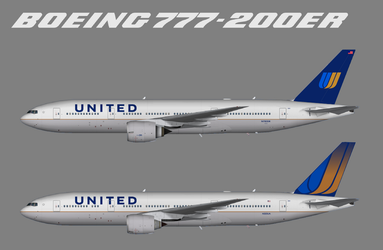 Fictional United Continental Livery by WinginWolf