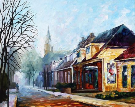 House by Leonid Afremov by Leonidafremov