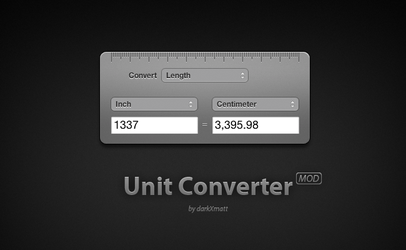 Unit Converter Widget Mod by MatthewTung