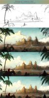 Process of Journey's End by Roseum