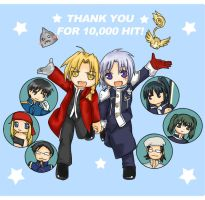 Thank you for over 10000 hits by Joichiroll
