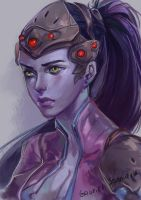 Fan art to Widowmaker, from overwatch by Balnur