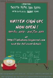 south park big bang 2013 WRITERS by w0rmsign