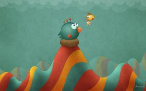 Happy Mother's Day Tiny Wings by vladstudio