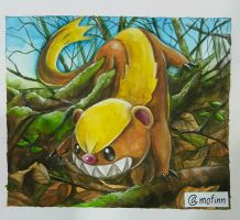 Yungoos the little devil. Pokemon sun and moon by Mofinn