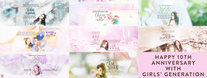 HAPPY 10TH ANNIVERSARY WITH SNSD by BUniie268