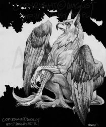 Gryphon Guardian by AugustAnna