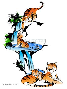 Tiger Waterfall by RHPotter