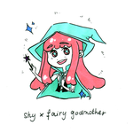 Inktober 2017 Day #7 - Shy x Fairy Godmother by Kiichigo-Kumo