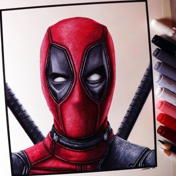 Deadpool Drawing by LethalChris