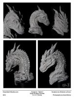 Steinir Dragon Sculpture (Collage View) by Dreamspirit