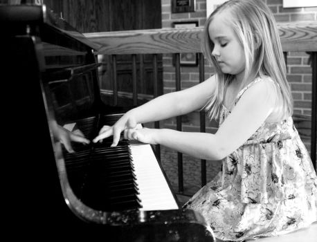 My sweetie girl on the piano April 2012 by hotwiar