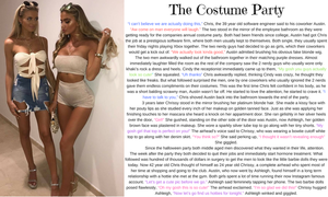 The Costume Party TG Caption (TG, AR) by hashtagwoke