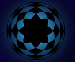 Blue Spirograph by Lily-the-pink