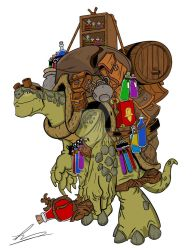 Leonerd Hardshell The Tortle Alchemist by wonderfully-twisted
