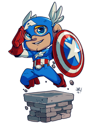 Captain America - Original Avenger Chibi by jonathan-rector