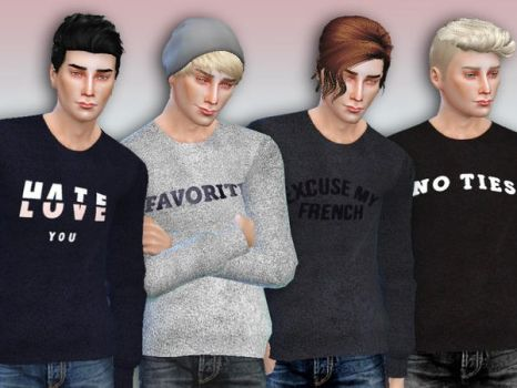 [MMD] Male Sweater (+DL) by AppleWaterSugar