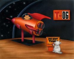 The First Cat in Space by spiraln